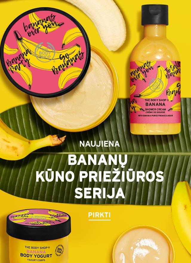 Bananų kūno priežiūros serija