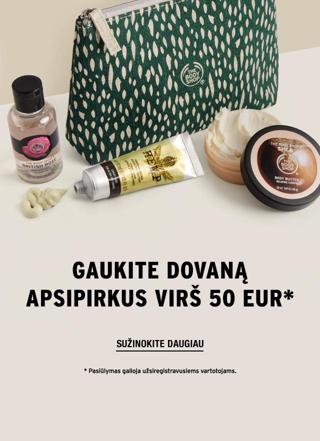 Gaukite dovaną apsipirkus virš 50 Eur