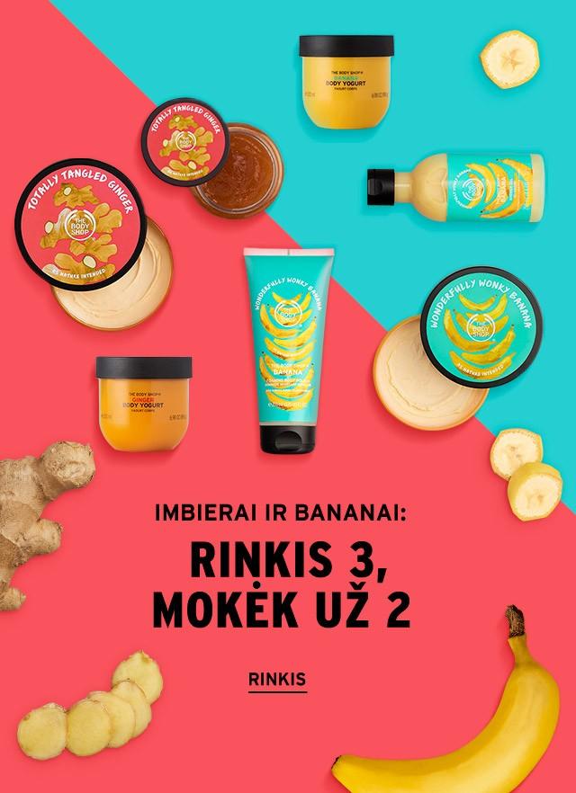 Imbierai ir bananai: rinkis 3, mokėk už 2