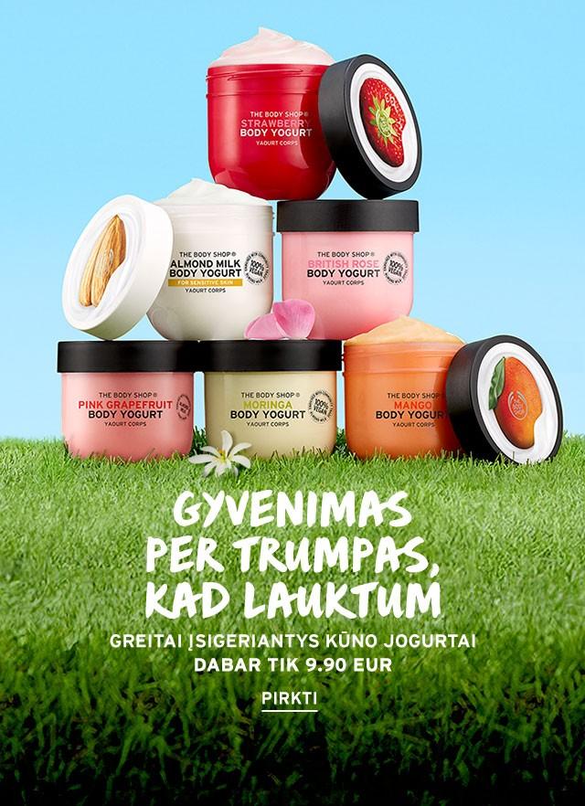 Kūno jogurtai tik 9.90 Eur