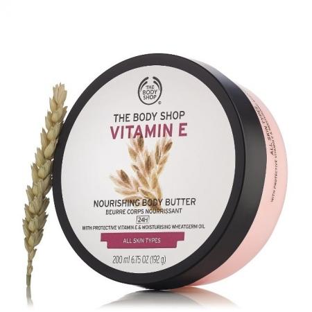 Vitamino E sviestinis kūno kremas