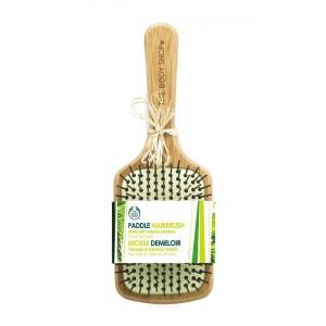 Плоская щетка для волос из бамбука