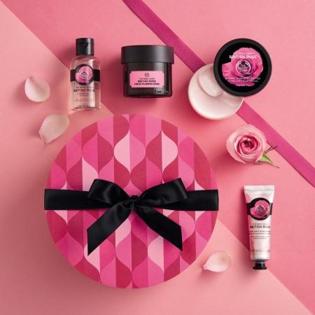 Подарочный набор Британская роза в круглой коробке
