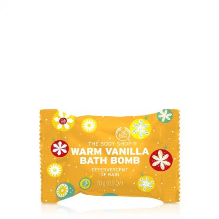 Šiltos vanilės vonios bomba