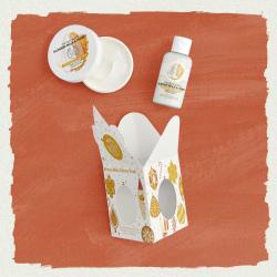 Migdolų pieno ir medaus mini dovanų rinkinys