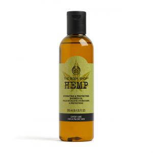 Kanapių drėkinamasis ir odą apsaugantis dušo aliejus