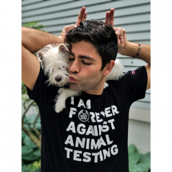 Футболка «I Am Forever Against Animal Testing»