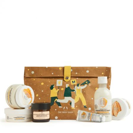 Migdolų pieno ir medaus karališkas dovanų rinkinys