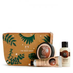 Sviestmedžių ir kokosų dovanų kosmetinė