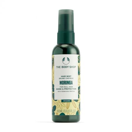 Blizgesio suteikianti ir apsauganti plaukų dulksna su moringų aliejumi