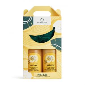 Bananų plaukų priežiūros duetas